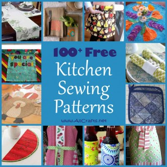 100+ Free Kitchen and Dining Sewing Patterns