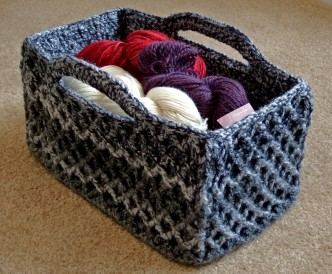 Diamond Trellis Crochet Pattern Basket
