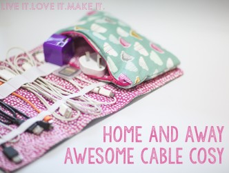 Charging Cable Organizer Sewing Tutorial
