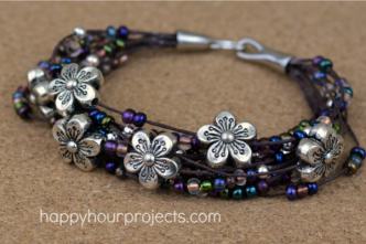 Floral Layered Bracelet