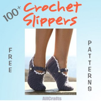 100+ Crochet Slippers Patterns