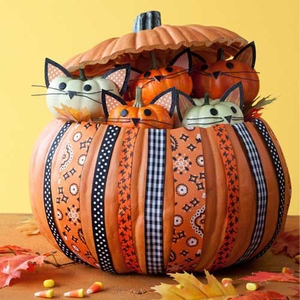 DIY Kittycat Pumpkin