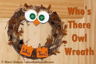 Who's There Fall Owl Wreath