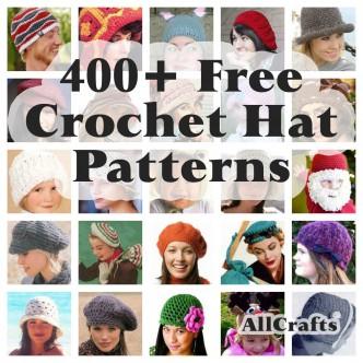 400 Free Crochet Hat Patterns
