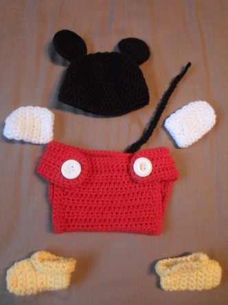 Mickey Baby Set Crochet Pattern