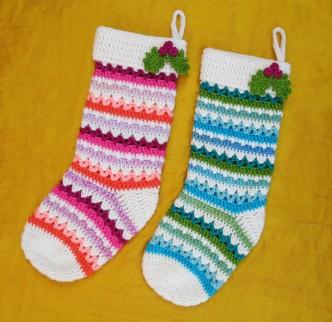 Festive Christmas Stockings Crochet Pattern