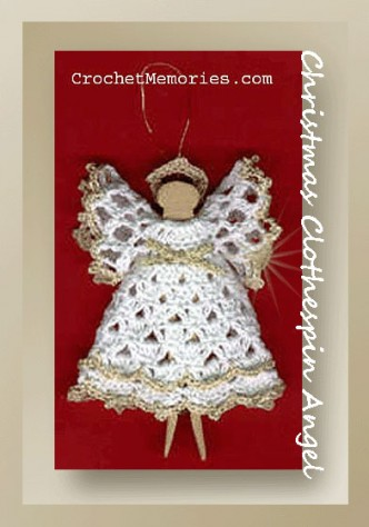 Christmas Clothespin Angel Crochet Pattern