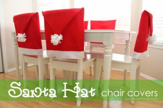 Santa Hat Chair Covers Sewing Tutorial