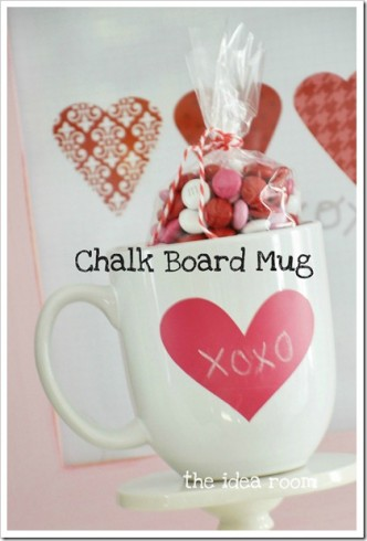 Valentine Chalk Board Mug Gift Tutorial