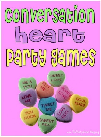 Conversation Heart Valentine's Day Party Games