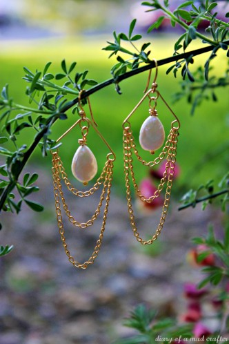 Easy DIY Chandelier Earrings