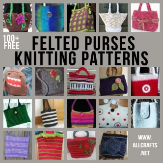 100+ Free Felted Purses Knitting Patterns
