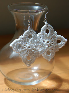 Royal Earrings Free Crochet Pattern