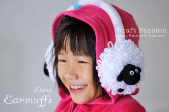 Sheep Earmuffs Crochet Pattern