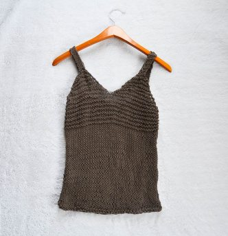 Simple Tank Top Knitting Pattern
