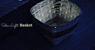 DIY Solar Light Basket