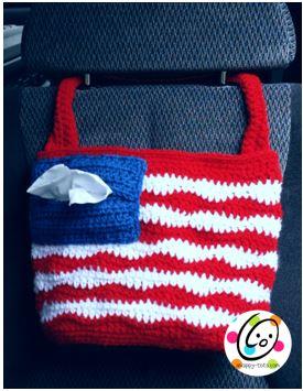 American Car Tote Bag Free Crochet Pattern