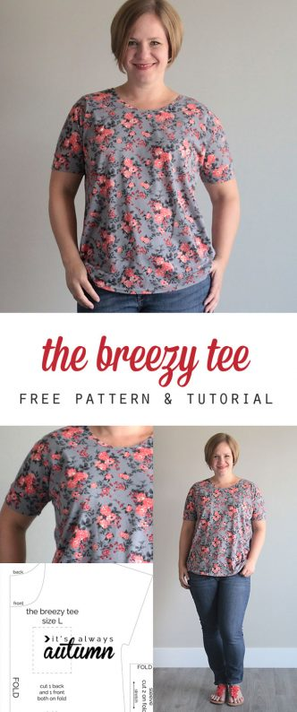 The Breezy Tee Free Womens Sewing Pattern