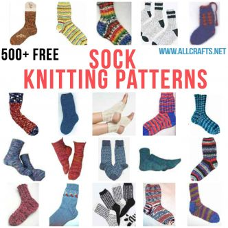 500+ Free Sock Knitting Pattterns