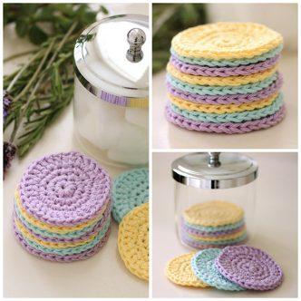 Reusable Crochet Face Scrubbies Pattern