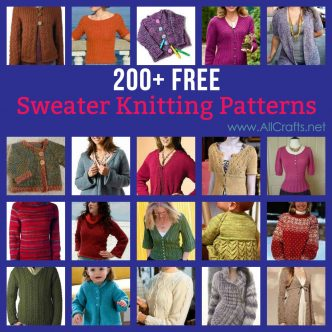 200+ Free Sweater Knitting Patterns