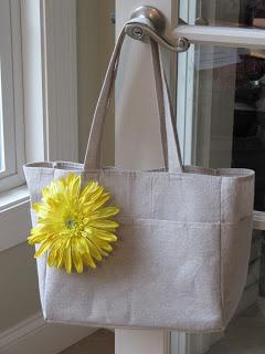 Drop Cloth Tote Bag Sewing Tutorial