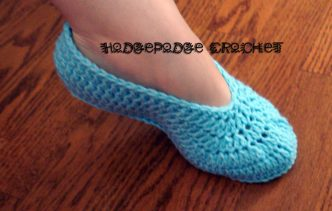 Ladies' Ballet Slippers Crochet Pattern