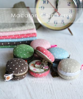 Macaron Coin Purse – Free Sewing Pattern
