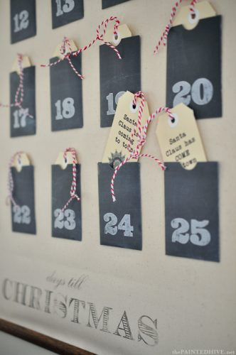 Christmas Advent Calendar Wall Chart