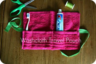 Washcloth Travel Tote Sewing Pattern
