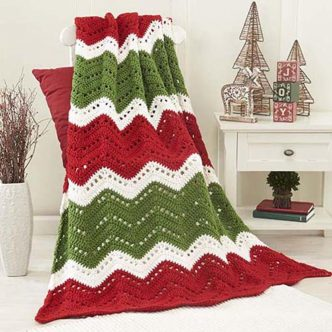 Holiday Ripple Crochet Afghan Pattern