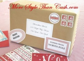 Free Printable Santa Labels and Stamps from the North Pole