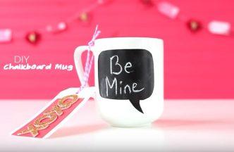 DIY Chalkboard Mug Valentine's Day Gft