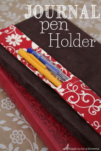 Journal Pen Holder Sewing Tutorial