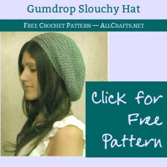 Gumdrop Slouchy Hat Free Crochet Pattern