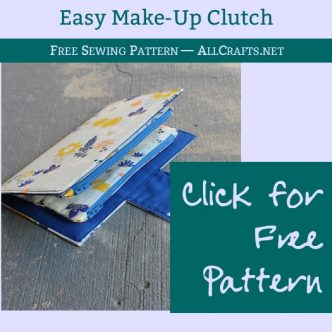 Easy Makeup Clutch Sewing Pattern