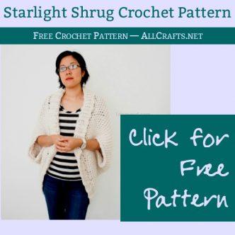Free Starlight Shrug Crochet Pattern