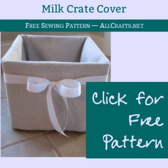 Cute Milk Crate Cover Sewing Tutorial