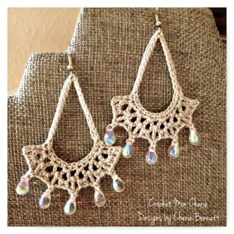 Teardrop Earrings Free Crochet Pattern