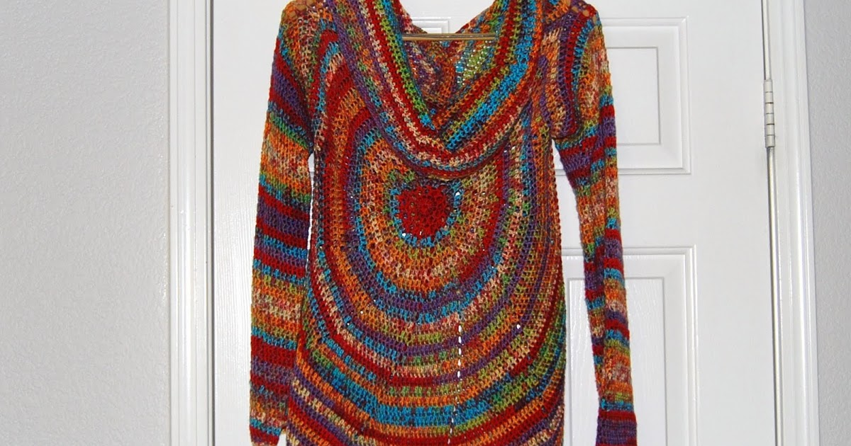 Pinwheel Sweater Free Crochet Tutorial