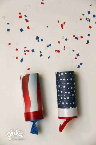 Easy Fourth of July Firework Confetti Launchers