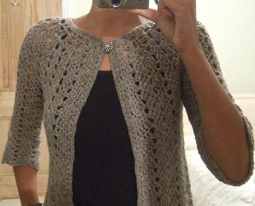 Chevron Lace Cardigan Crochet Pattern