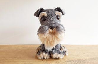 Schnauzer Dog Amigurumi Crochet Pattern