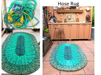 Recycled Hose Rug