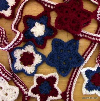 Stars and Stripes Bunting Free Crochet Pattern