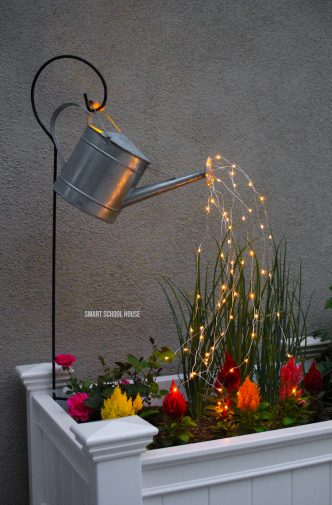 Diy Watering Can with Fairy Lights