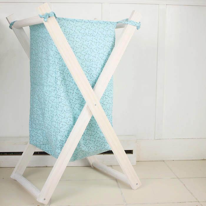 DIY Foldable Wood Laundry Hamper