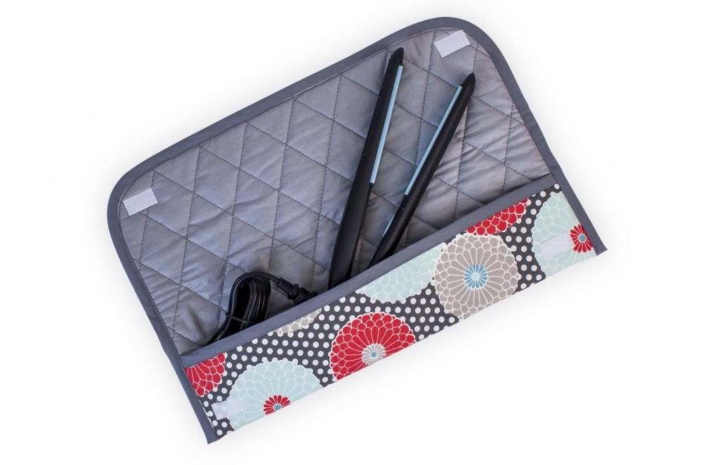 Flat or Curling Iron Case Free Sewing Pattern