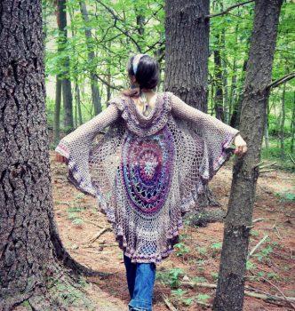 Lotus Mandala Duster Free Crochet Pattern