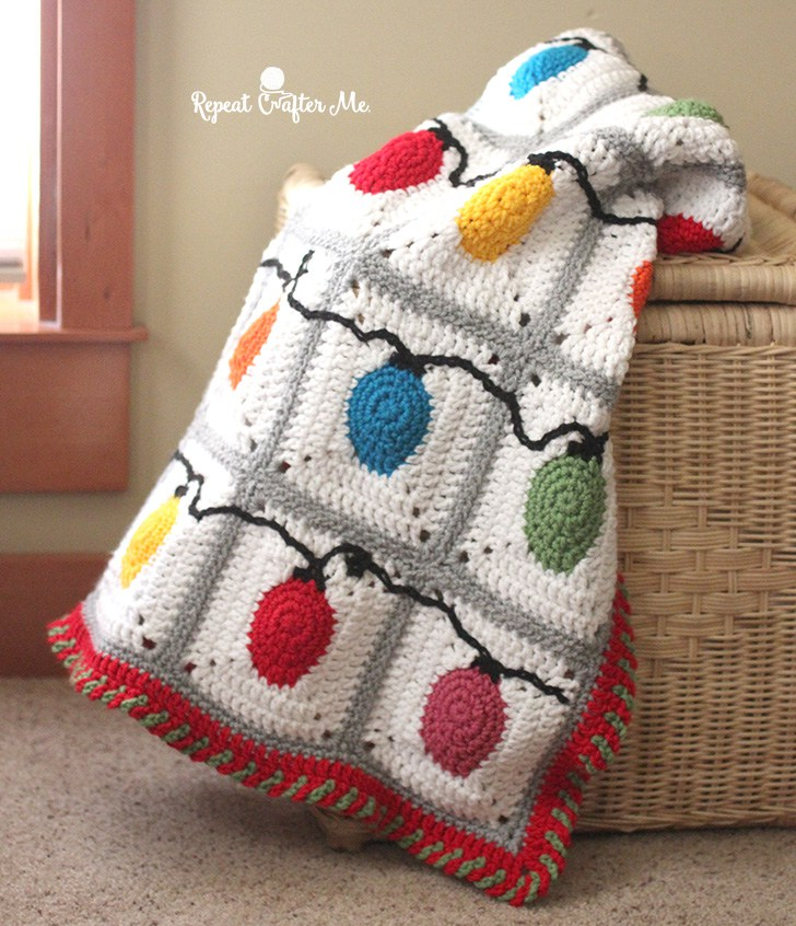 Crochet christmas lights blanket free pattern allcrafts for All free holiday crafts